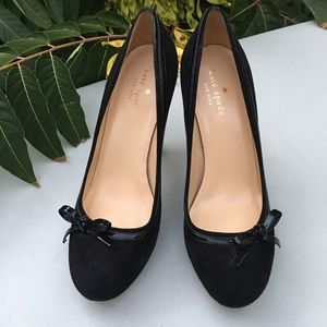 Kate Spade Suede Heels Pumps with Bows Size 8